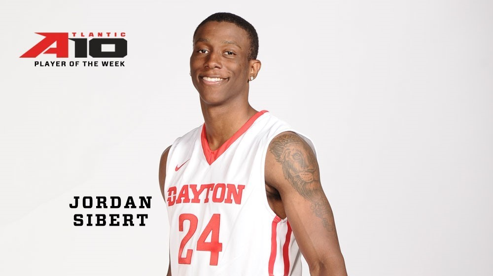 Jordan Sibert A-10 Player of the Week