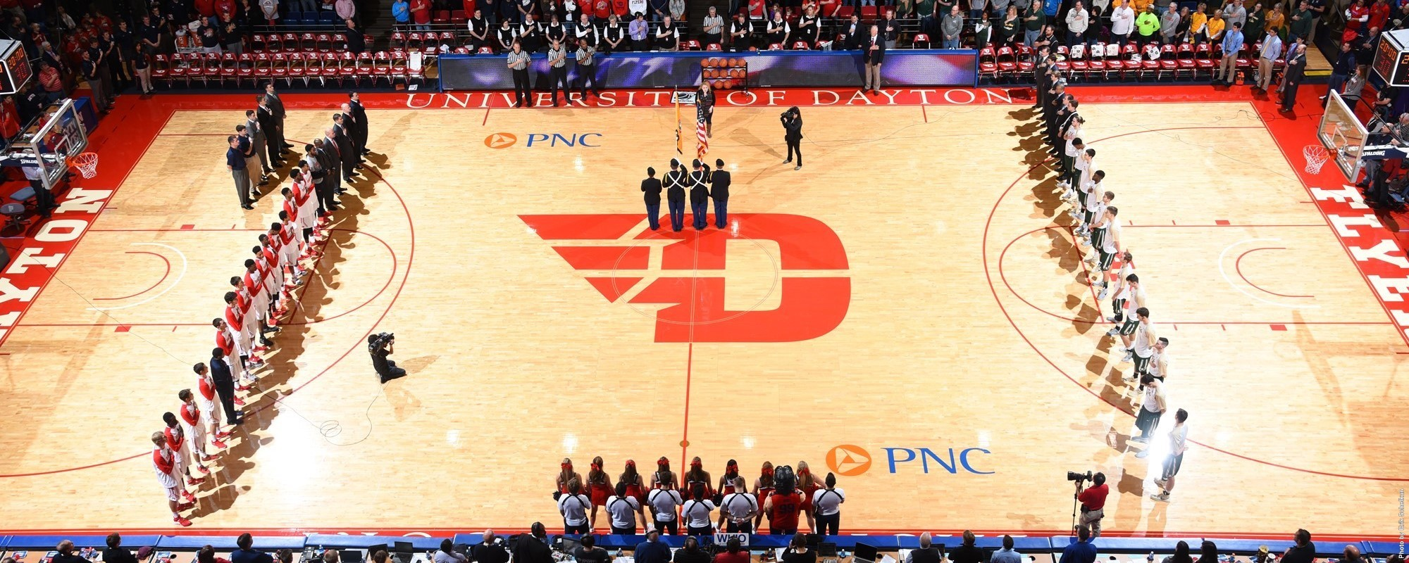 Starting Lineups UD Arena Court